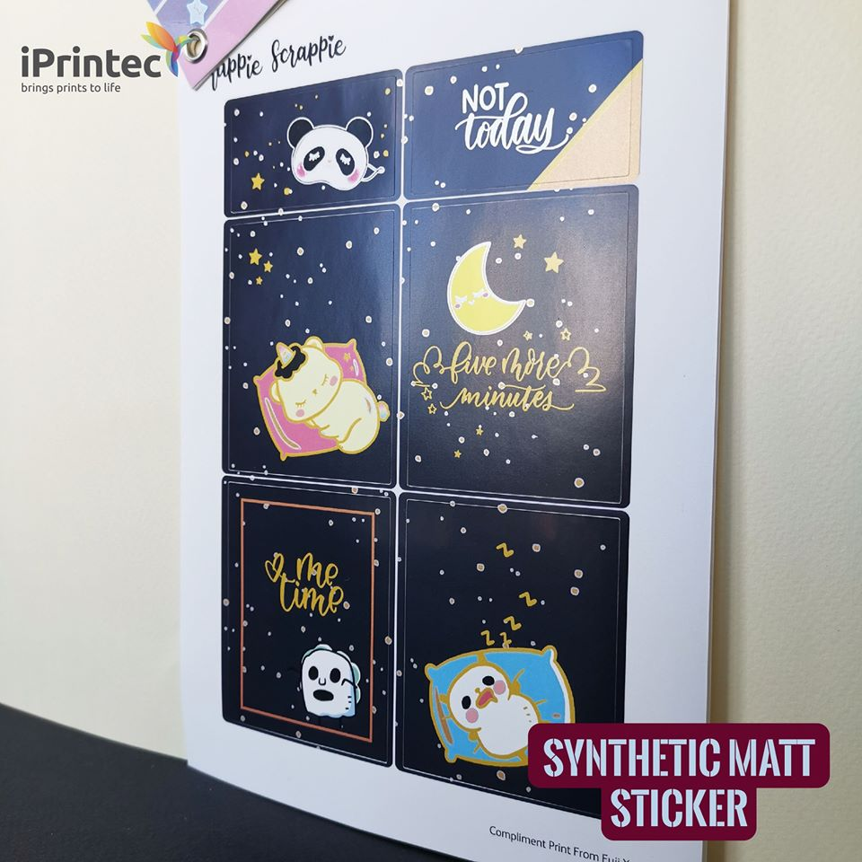 iPrintec PP Synthetic Matt Sticker