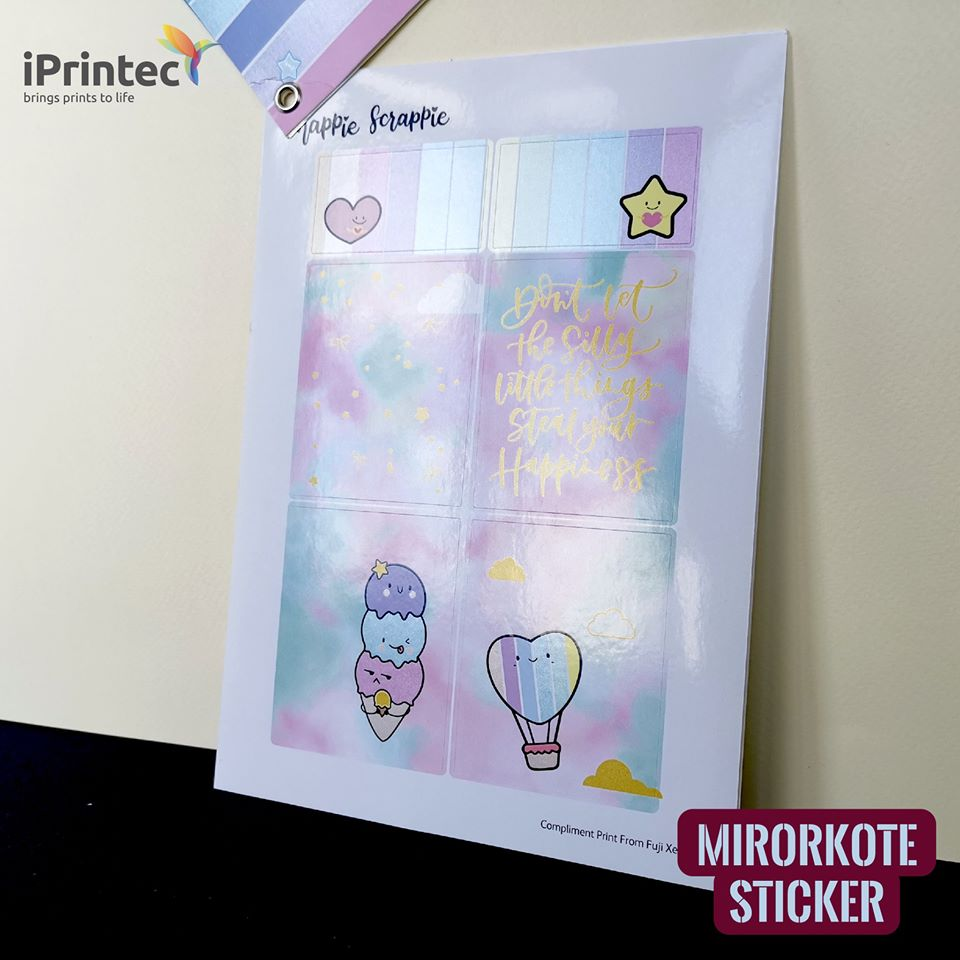 iPrintec Mirrorkote Sticker