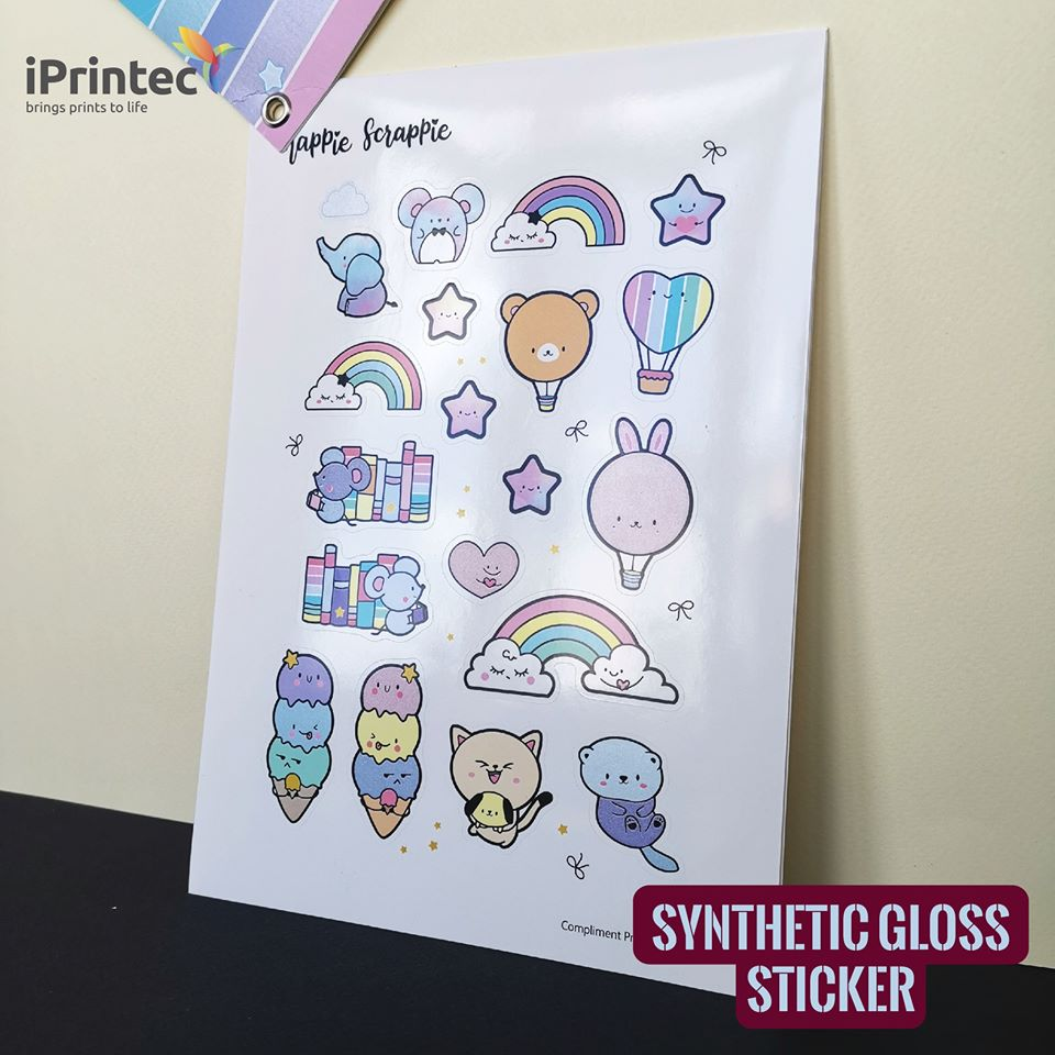 iPrintec PP Synthetic Gloss Sticker