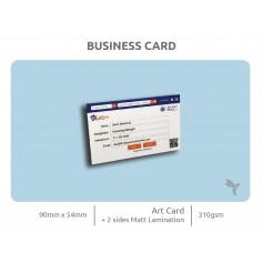 BUSINESS CARD (Art Card 310gsm) : Laminate Finishing : Single Side Print (100pcs)