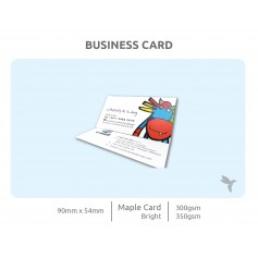 BUSINESS CARD : Eco-Friendly/ Recycled Card/ Craft Card (280-300gsm) : Single Side Printing (100pcs)