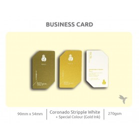 Textured Material Business Card: Single Side Printing (100pcs per QTY)