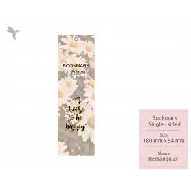 BOOKMARK : Laminate Finishing: Single Side Printing