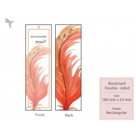 BOOKMARK : FSC Certified/ Recycled Card: 300gsm : Double Side Printing