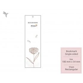 BOOKMARK : Synthetic Transparent & Translucent Film : Single Side Printing