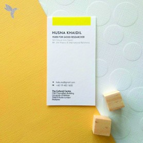 BUSINESS CARD : Eco-Friendly/ Recycled Card (350gsm) : Single Side Printing (100pcs)
