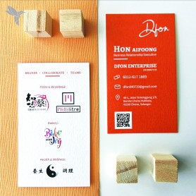 BUSINESS CARD : Eco-Friendly/ Recycled Card (350gsm) : Double Side Printing (100pcs)