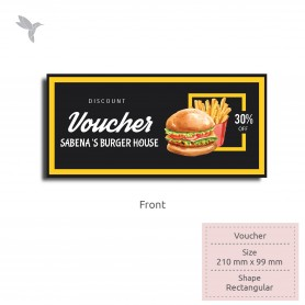VOUCHER: 210mm x 99mm, Simili Paper 80gsm