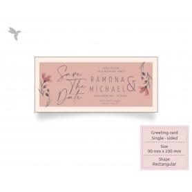 GREETING CARD : 200mm x 90mm - Laminate Card : Single Side Printing (100pcs)