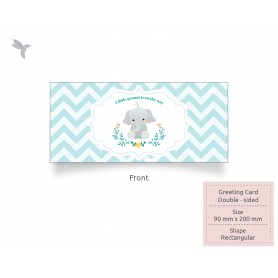 GREETING CARD : 200mm x 90mm - Eco-Friendly/ Recycled Card (350gsm) : Double Side Printing (100pcs)