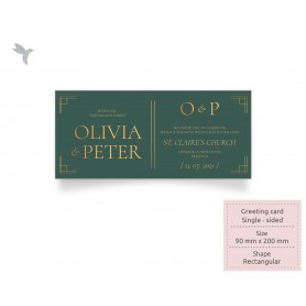 GREETING CARD : 200mm x 90mm - Touché Series Series : Single Side Printing (100pcs)