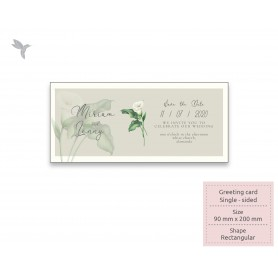 GREETING CARD : 200mm x 90mm - Textured Material : Single Side Printing (100pcs)