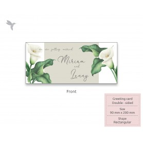 GREETING CARD : 200mm x 90mm - Textured Material : Double Side Printing (100pcs)