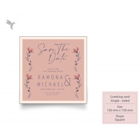 GREETING CARD : 150mm x 150mm - Art Card 310gsm Laminate Card : Single Side Printing (100pcs)