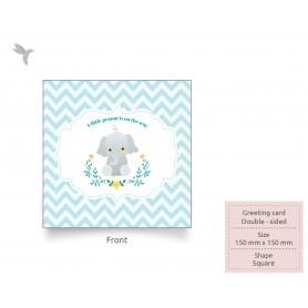 GREETING CARD : 150mm x 150mm - Eco-Friendly/ Recycled Card (300gsm) : Double Side Printing (100pcs)