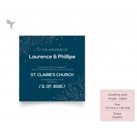 GREETING CARD : 150mm x 150mm - Colorplan Series : Single Side Printing (100pcs)