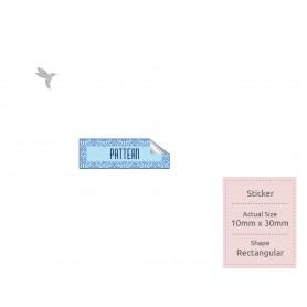 SIMILI STICKER : 10mm x 30mm - Square / Rectangular Shape