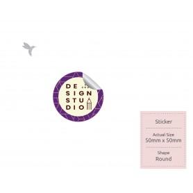 NORMAL STICKER : 50mm x 50mm - Standard Shape