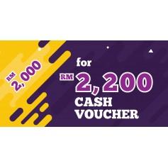 CASH VOUCHER : RM 2200