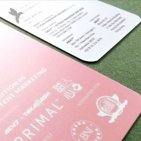 BUSINESS CARD (Art Card 350gsm) : Laminate Finishing : Double Side Print (100pcs)