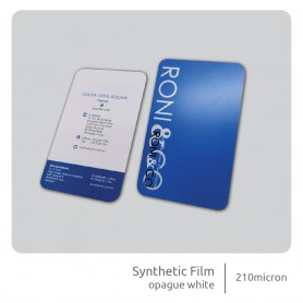 Synthetic Film Business Card: Single Side Printing (100pcs per QTY)
