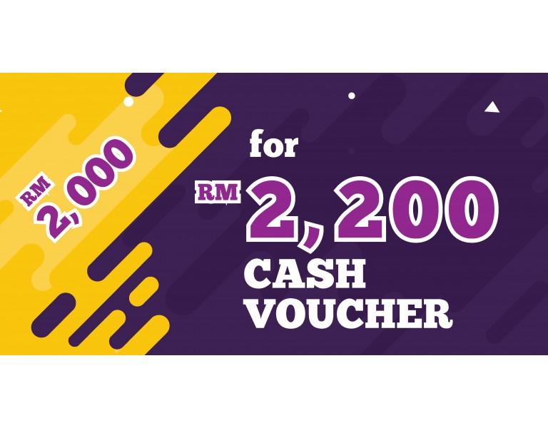 Cash Voucher RM 2,200